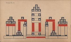 Design no. 13, James Rush Bronson's Patriotic puzzle and structural cubes