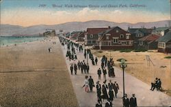 Broad Walk between Venice and Ocean Park Postcard