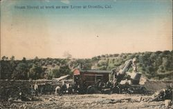 Steam Shovel at work on New Levee Postcard