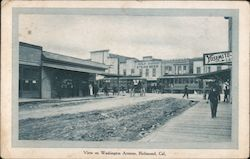 View of Washington Avenue Postcard