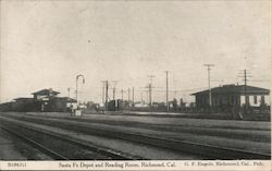 Santa Fe Depot and Reading Room Postcard
