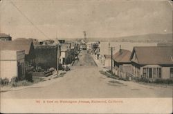 A View on Washington Avenue Postcard