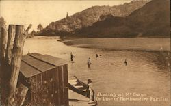 Boating at McCrays on Line of Northwestern Pacific