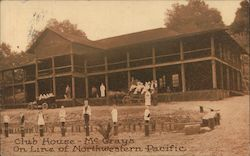 Club House-McCray's On Line of Northwestern Pacific Postcard