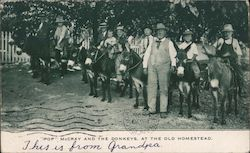 """Pop"" McCray and the Donkeys, at the Old Homestead"