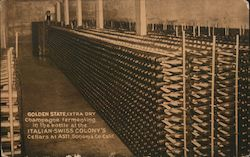 Golden State Extra Dry Champagne Italian-Swiss Colony's Cellars Postcard