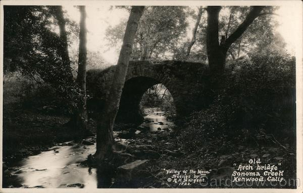 Old Arch Bridge Sonoma Creek Kenwood California