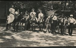 Women Riding Mules at McCray's Resort