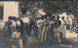 McCray's group of people posed Postcard
