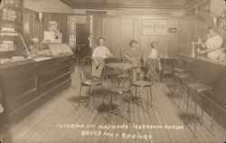 Interior of Nathan's Ice Cream Parlor Postcard
