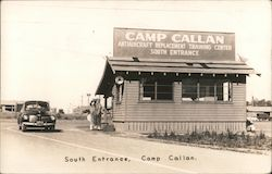 South Entrance, Camp Callan Postcard