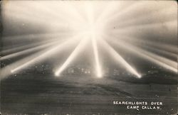 Searchlights Over Camp Callan Postcard