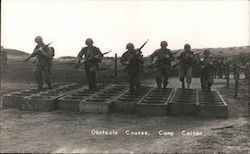 Obstacle Course, Camp Callan Postcard