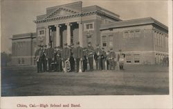 High School and Band Postcard