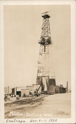Milham Drilling Well Postcard