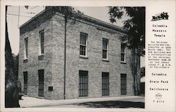 Columbia Masonic Temple Postcard