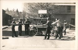 """Papeete"" Columbia's Historic Fire Engine Postcard"