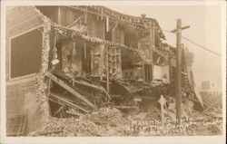 Masonic Temple After the Compton Quake Postcard