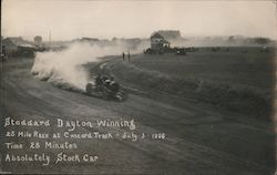 Stoddard Dayton Winning 25 Mile Race at Concord Track Postcard