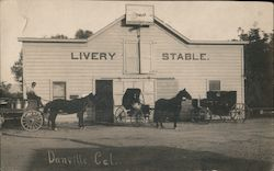 Livery Stable Postcard