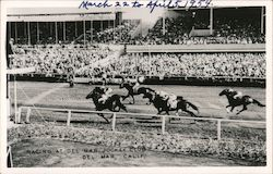 Racing at Del Mar Jockey Club Postcard