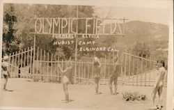 Olympic Fields Nudist Camp (Reproduction) Postcard