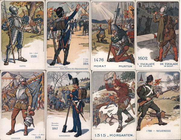 Set of 8: Swiss Soldiers Through the Ages Switzerland