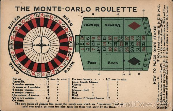 The Monte-Carlo Roulette rules and game Casinos & Gambling