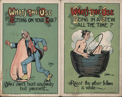 "Lot of 2: ""What's the Use"" Postcard"