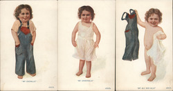 Set of 3: Overalls / Underalls / All and Alls Postcard