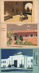 Set of 3: Original Serigraphs Postcard