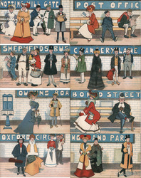 Set of 8: London Tube Stations