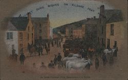Hearty Good Wishes on Kildare Peat Paper. An Irish County Fair, Saintfield Co. Down Postcard
