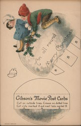 Gibson's Movie Post Cards - An All round Merry Christmas Postcard