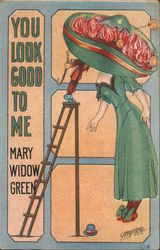 You look good to me Mary Widow Green Postcard