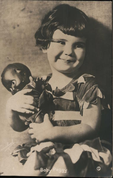 Diana Serra Cary Baby Peggy with black doll Celebrities