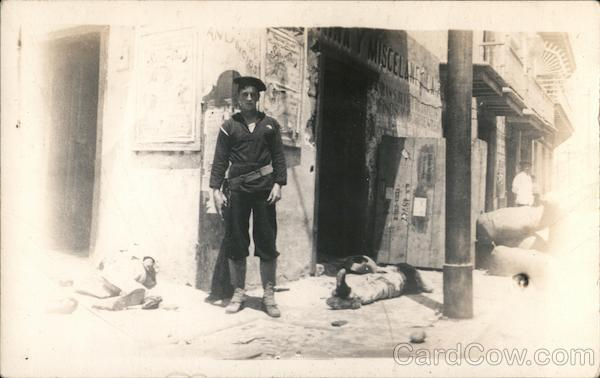 Soldier with Bodies, Mexican Revolution Military