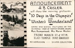 Elks Temple - Moving Pictures H.B. Crisler