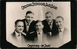 Original Dixieland Jazz Band - 1917 Postcard