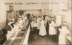 cooking School Sanitarium Postcard