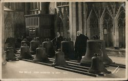 The Bells in York Minster Postcard