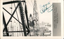 Ozzie Osborne, World's foremost flagpole sitter. Virginia Park Signed Autograph Postcard
