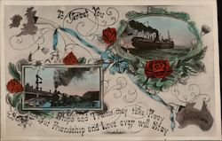 To Great You Ships and Trains may take away but friendship and love ever stay - Australia Postcard