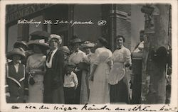 Watching the IOOF parade Postcard