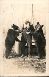 "Bears: Take Time Out for Lunch ""Spikehorn"" and Pals Postcard"