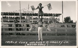 Mable June Holber & J. Tracey Jr. State Fair - Flag act Postcard