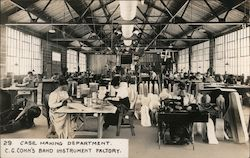 Case Making Department, C.G. Conn's Band Instrument Factory Postcard