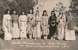 Indian Princesses of Nine Tribes Postcard