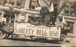 GAR Parade Float About the Liberty Bell 1850 Postcard