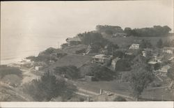 View of town of Bolinas and ocean Postcard